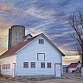 White Barn Sunrise by James BO  Insogna