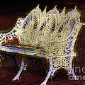 White Bench by Donna Bentley