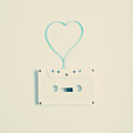 White Cassette Tape by Andrea Carolina Photography