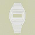 White Electronic Watch by Naxart Studio