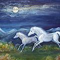 White Horses In Moonlight by Maureen Ida Farley