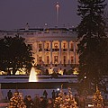 White House, From Elipse At Christmas by Richard Nowitz