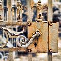 White Iron Gate Details by Jill Battaglia