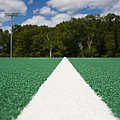 White Line On An Athletic Field by Sam Bloomberg-rissman