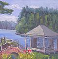 White Pine Camp Tea House by Robert P Hedden