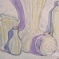 White Vases by Pat Slavek