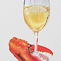 White Wine And Lobster Claw by Dominic White