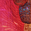 Wicker Light Shades And Pink Wall by Jeremy Woodhouse