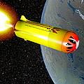 Wild Fire Private Spacecraft, Art by Christian Darkin