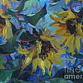 Wild  Sunflowers by Sandra Leinonen Dunn