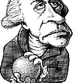 William Herschel, Caricature by Gary Brown