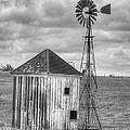 Windmill And Shack by Jim And Emily Bush