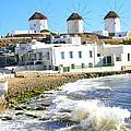 Windmills On Mykonos by Laurel Talabere