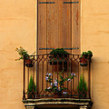 Window And Balcony In Vicenza by Greg Matchick