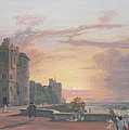 Windsor Castle North Terrace Looking West At Sunse by Paul Sandby
