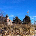 Windy Day At East Point  by Nancy Patterson