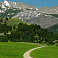 Windy Road To The Crazy Mountains by Roderick Bley