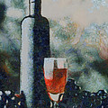 Wine Bottle And Glass by Elizabeth Coats