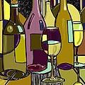 Wine Bottle Deco by Peggy Wilson