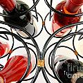 Wine Bottles In Curved Wine Rack by Simon Bratt Photography LRPS