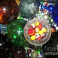 Wine Glass And Marbles by Rachel Carmichael