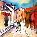 Wine Road In Archanes In Crete by Miki De Goodaboom