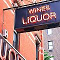 Wines And Spirits Sign by Valentino Visentini