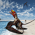 Winged Dimorphodon Pluck Fish by Walter Myers