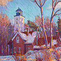 Winter At The Lighthouse by Michael Camp