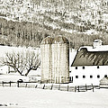 Winter Barn 3 by Marilyn Hunt