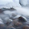 Winter Creek Framed By Ice by Dean Pennala