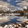 Winter Dawn Reflection Of Mount by Colin Monteath