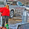 Winter Fest Ice Sculpting by Michael Frank Jr