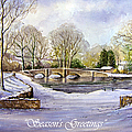 Winter In Ashford Xmas Card by Andrew Read