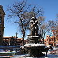 Winter In Cathedral Park Santa Fe by Elizabeth Rose