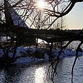 Winter Lake by Valentino Visentini