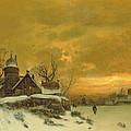 Winter Landscape by Friedrich Nicolai Joseph Heydendahl
