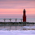 Winter Lighthouse by Bill Pevlor
