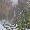 Winter Lower Yosemite Falls by Heidi Smith