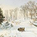 Winter On Ravensdale Road by Jasper Francis Cropsey