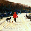 Winter Road Quebec Laurentian Landscape by Carole Spandau