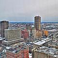 Winter Scene Downtown Buffalo by Michael Frank Jr
