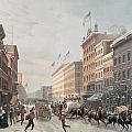 Winter Scene On Broadway by American School
