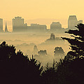Winter Smog Over The City by Colin Monteath