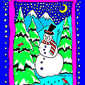 Winter Snowman by Nancy Griswold