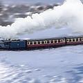 Winter Steam Train by Cliff Norton