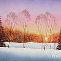 Winter Sunset by Deborah Ronglien