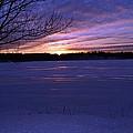 Winter Sunset IIi by Joe Faherty