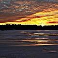 Winter Sunset Iv by Joe Faherty