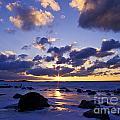 Winter Sunset On Lake Michigan - Fm000053 by Daniel Dempster